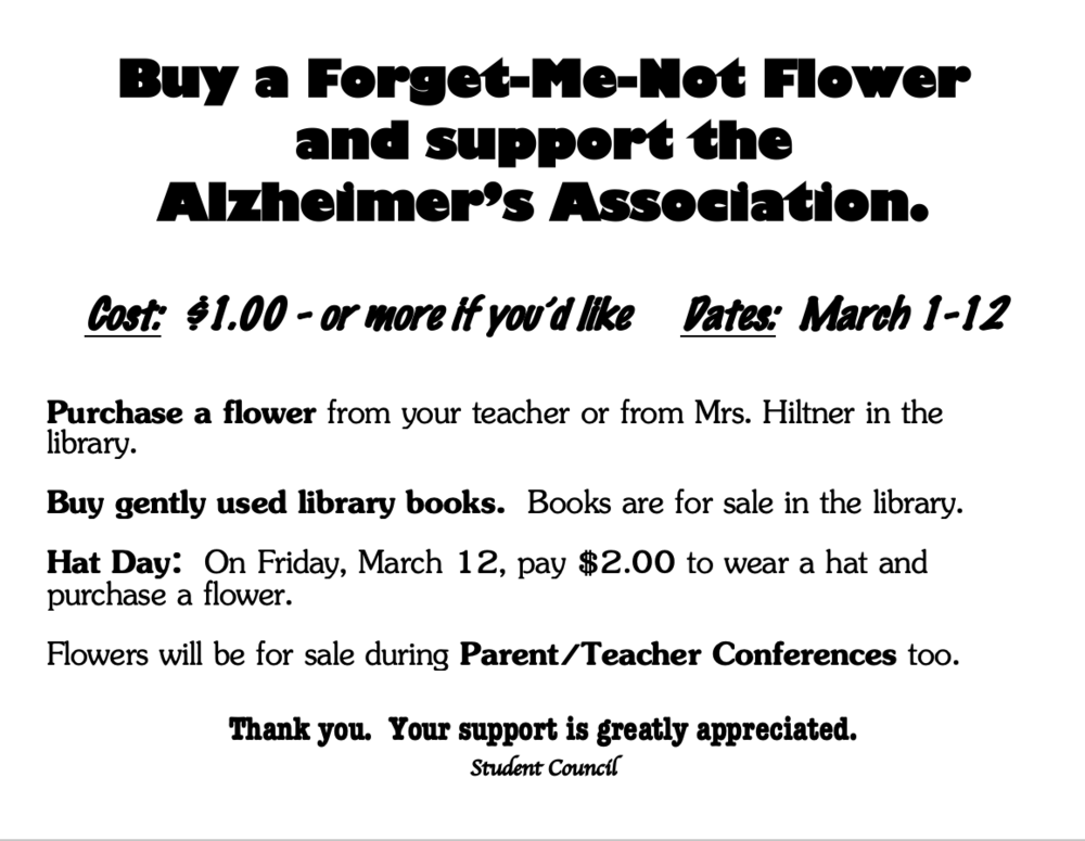 Buy a Forget-Me-Not Flower to Support the Alzheimer's Association!
