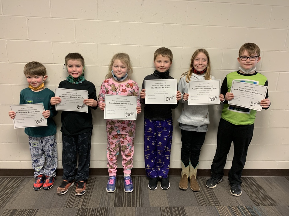 February Students of the Month and ROCK Winners!