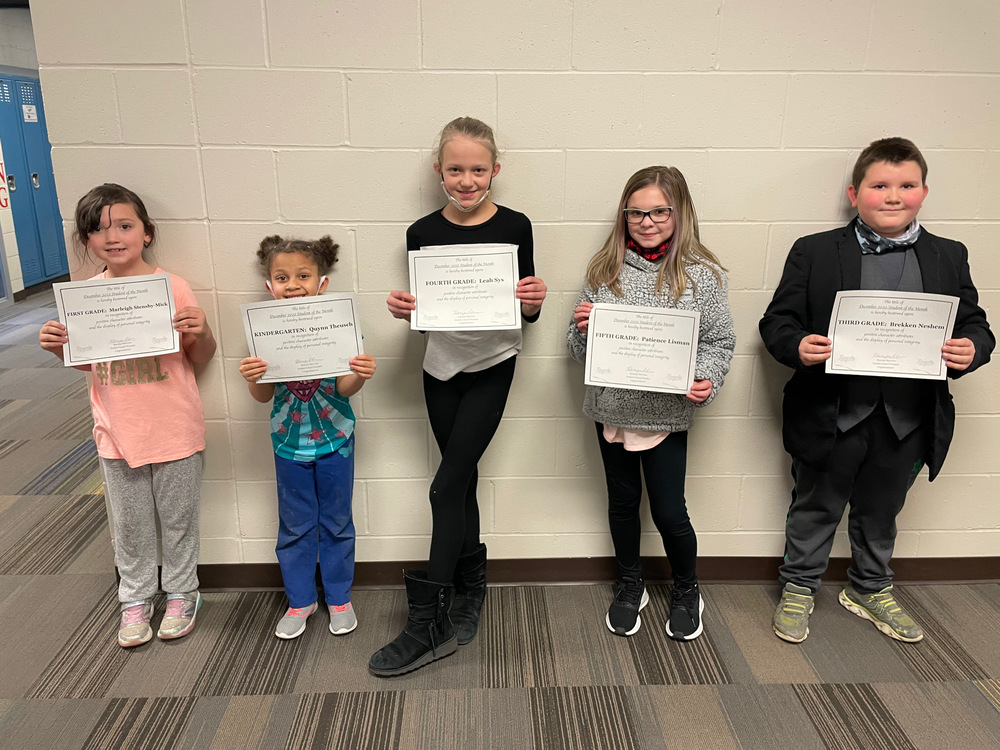 December Students of the Month and ROCK Winners!