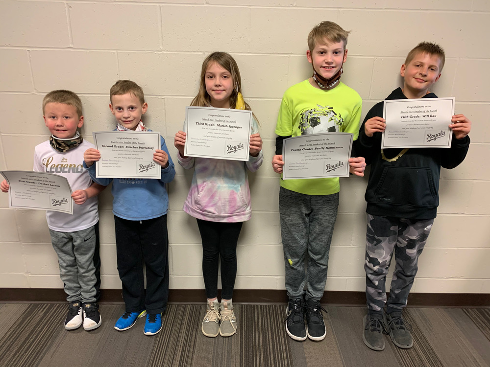March Students of the Month and ROCK Winners!