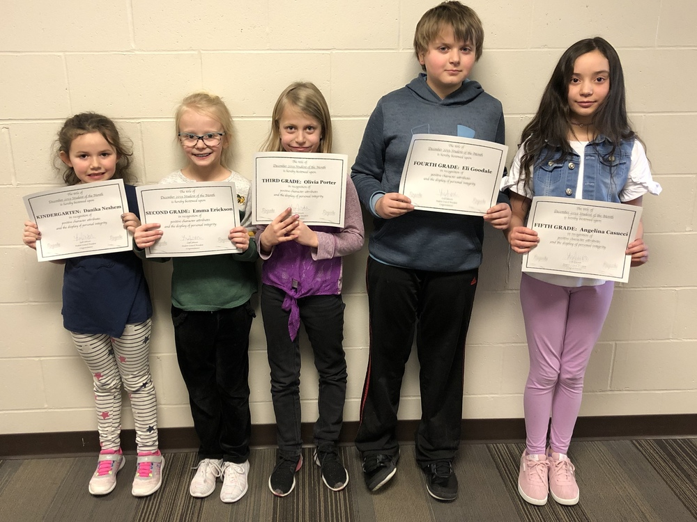 December Students of the Month!