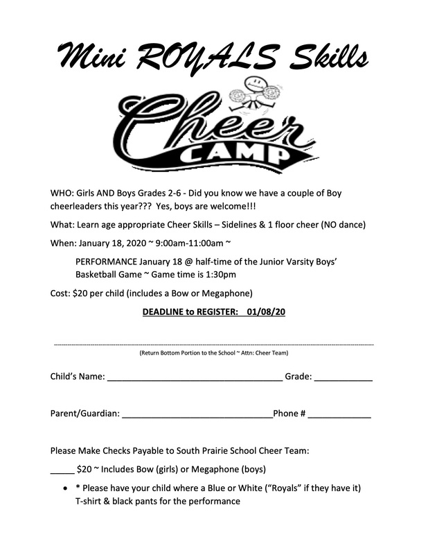 Royals Cheer Team is Hosting a Mini Royals Cheer Camp!